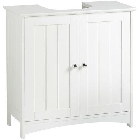 VonHaus Under Basin Storage Unit - White Colonial Style Bathroom Cabinet
