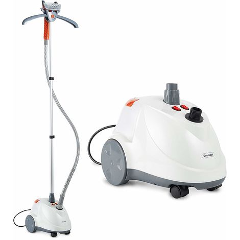 VonHaus Upright Clothes Steamer | 1600W | Vertical Height Adjustable Garment Steaming Station | 2200ml Capacity | 2 Low/High Steam Settings | Includes Adjustable Clothes Hanger, Brush Accessory Head
