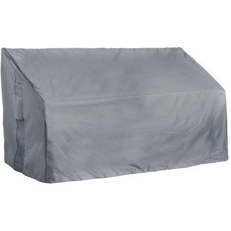 VonHaus Waterproof Garden Loveseat Cover - 'The Storm Collection' Premium, Heavy Duty Protection Cover for Jack & Jill / Companion Bench (L173cm x D91cm x H62 - 96cm) - Slate Grey