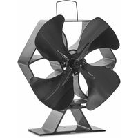 VonHaus XL 4 Blade Stove Fan - Thermoelectric/Heat-Powered/Eco-Friendly/Economical - Silent Operation - Circulates Heat For Improved Distribution - Suitable For Use With Stoves, Log Burners & Fireplaces