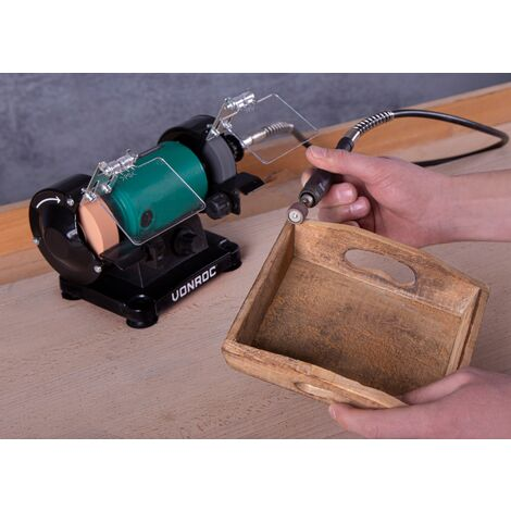 """main image of """"VONROC Bench Grinder with flexible shaft / Multi Tool 150W - 75mm"""""""