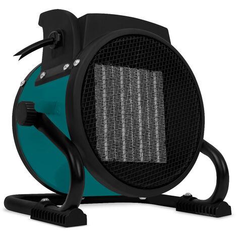 VONROC Chauffage d'appoint électrique professionnel – radiateur soufflant 2 000W – 3 positions – ventilateur - pour surfaces jusqu'à 20m2