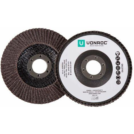 "main image of ""VONROC Discos de lámina para lijadoras - Juego de 2 piezas - K40 & K60 - Ø 115 x 22,2 mm"""