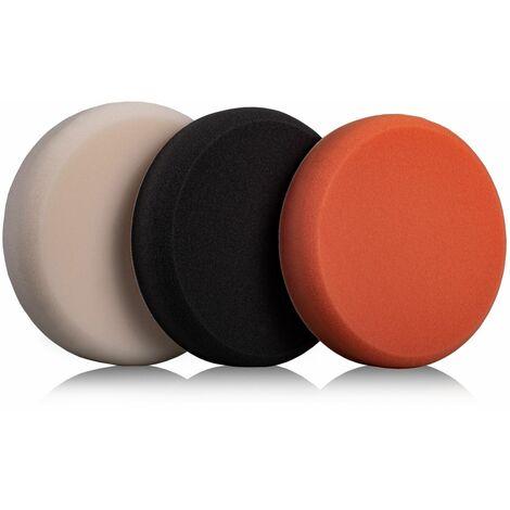 VONROC Discos de pulido - Discos de abrillantado - 150 mm, 3 almohadillas para pulidora