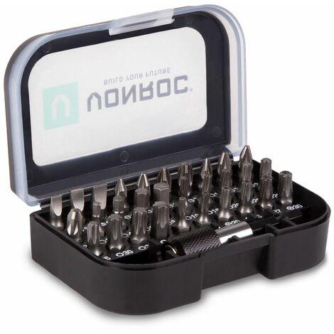 """main image of """"VONROC Juego de brocas universales - 31 piezas - incl. portabrocas, estuche de almacenamiento y clip para cinturón"""""""