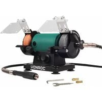 VONROC Rectificadora de mesa / multiherramienta 150W – 75mm con eje flexible