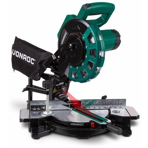VONROC Scie à onglet radiale 1700W – Ø 216mm lame de scie de 40 dents – Laser et capot intégrés - MS503AC