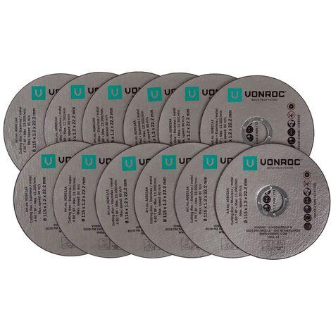 """main image of """"VONROC Set 12 dischi da taglio per smerigliatrici angolari 115mm"""""""