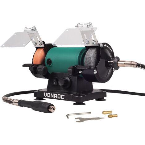 """main image of """"VONROC Smerigliatrice da banco multifunzione 150W - 75mm con albero flessibile"""""""