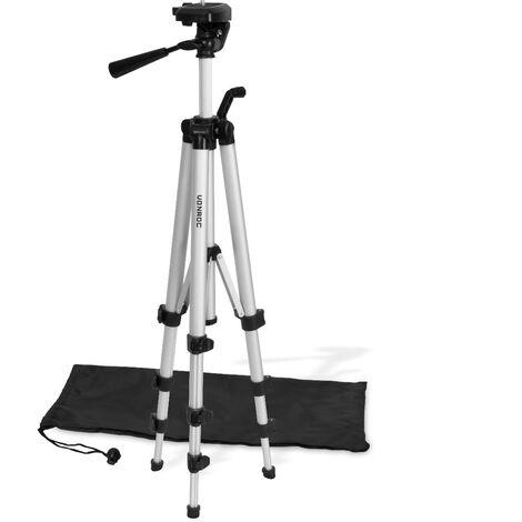 """VONROC Trípode para herramientas de medición 37-110cm - Trípode - Universal ¼"""" - Trípode para construcción - Trípode para láser - Incluye bolsa de almacenamiento"""
