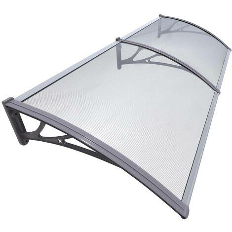 Vordach für Haustür, Transparentes Pultbogenvordach