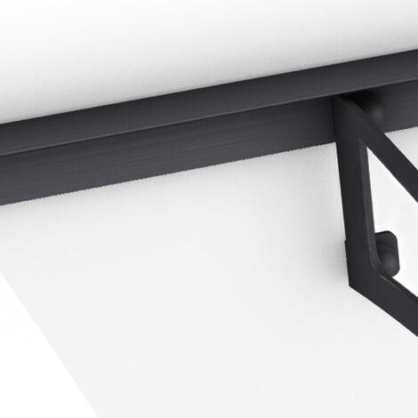 Vordach Haustürdach anthrazit Polycarbonat klar 1600x900 Überdachung Türdach