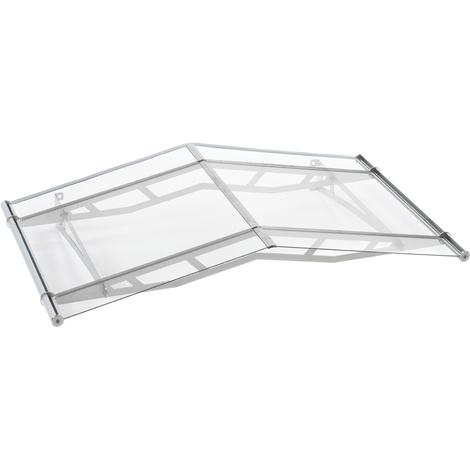 Vordach Haustürdach Edelstahl Acrylglas klar 1480x910 Giebeldach