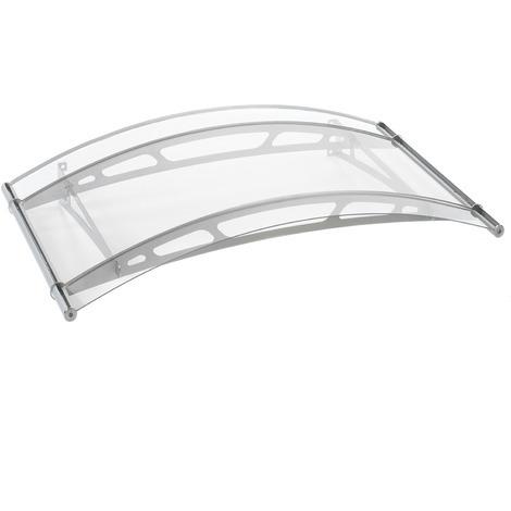 Vordach Haustürdach Edelstahl Acrylglas klar 1480x910 Türdach