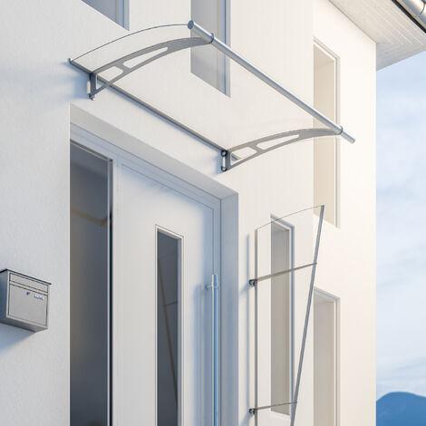 Vordach Haustürdach Edelstahl Acrylglas klar 1500x950 Überdachung Türdach