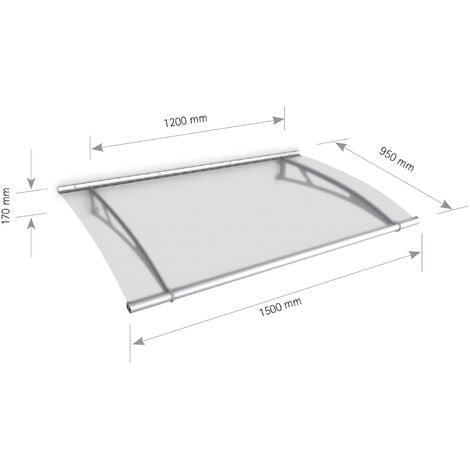 Vordach Haustürdach Edelstahl Acrylglas satiniert 1500x950 Überdachung Türdach