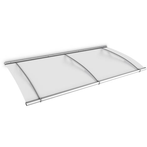 Vordach Haustürdach Edelstahl Acrylglas satiniert 1900x950 Überdachung Türdach