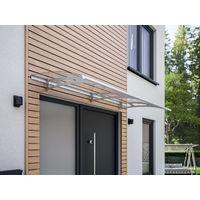 Vordach Haustürdach Edelstahl Polycarbonat klar 2000x900 Überdachung Türdach