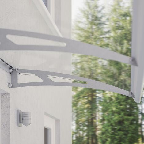 Vordach Haustürdach Edelstahl Polycarbonat klar 2400x900 Überdachung Türdach