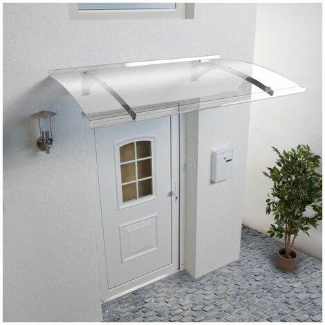 Vordach - Haustürüberdachung Mélanie (inkl. Lieferung) - Farbe der Tragkonstruktion - Edelstahl, Gesamtlänge - 150 cm, Gesamttiefe - 90 cm