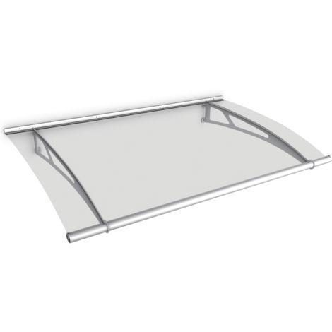 Vordach mit Seitenteil Schulte Haustür Edelstahl Hauseingang Acryl-Glas Türdach
