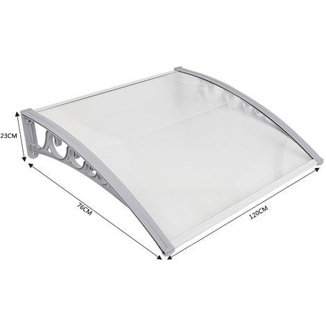 Vordach transparent Haustürvordach Türvordach Pultbogenvordach (80*120cm)