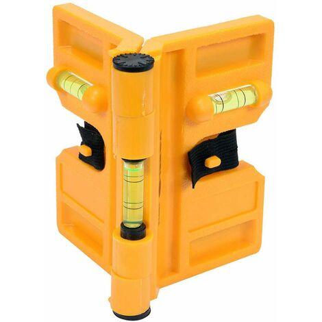 Vorel Pfostenwasserwaage Fügelwasserwaage Winkelwasserwaage mit Magneten
