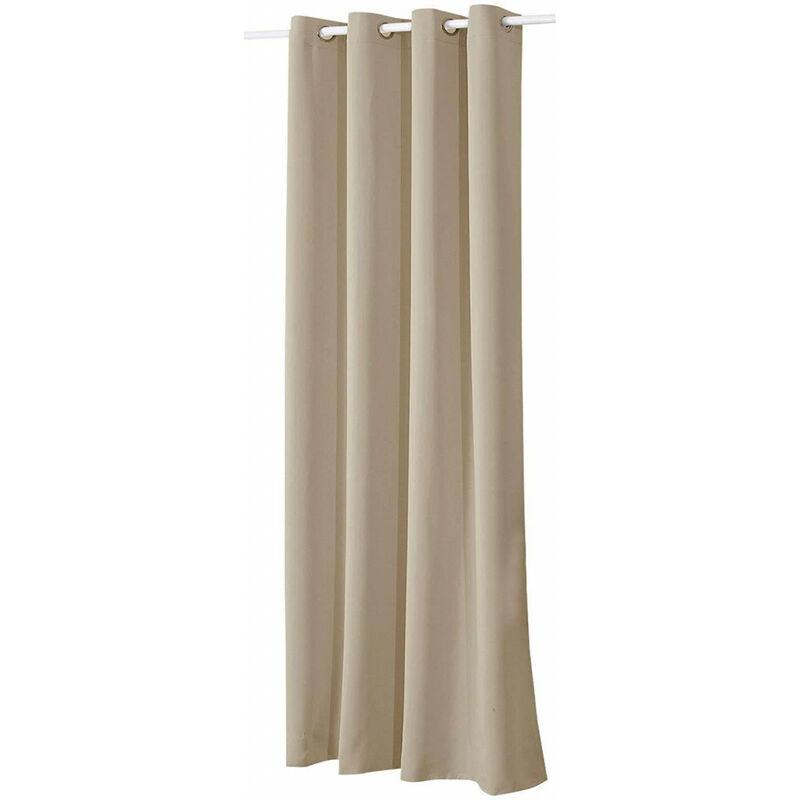 Vorhang mit Ösen in verschiedene Größen, (1 Stück) Sand 135x245 cm