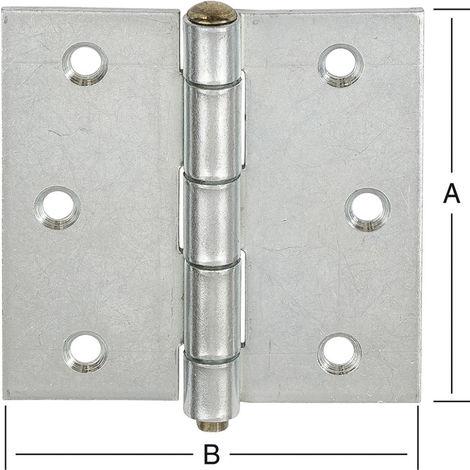 VORMANN Gerollte,käntige Edelstahl-Scharniere 10503 H.80mm B.80mm S.1,5mm STA