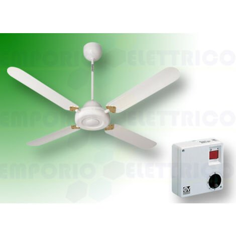"vortice ceiling fan kit nordik decor is 140/56"" white 61342 ev61342a"