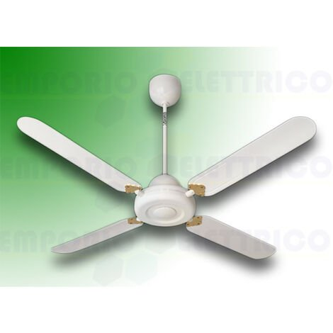 "vortice ceiling fan nordik decor is 140/56"" white 61342"