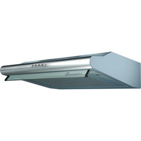 Vortice - Hotte visière à extracteur en acier inox 60 cm 120+40 W débit : 120 à 250 m3/h - VORTEX 60-I