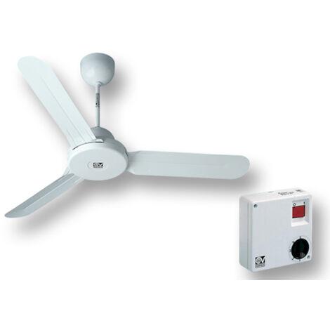 """vortice kit ventilateur plafond nordik design is 140/56"""" blanc 61360 ev61360a"""