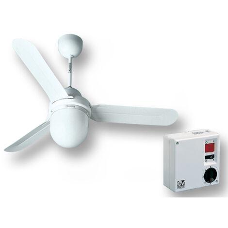 vortice kit ventilateur plafond nordik design is/l 90/36 blanc 61001 ev61001a