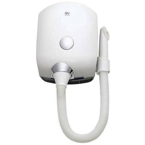 Vortice - Sèche-cheveux automatique avec tuyau flexible 800 W 190 m3/h sans prise rasoir - Vort Dry®