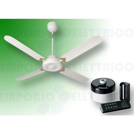 "vortice white ceiling fan kit nordik decor is 90/36"" 61052 ev61052b"