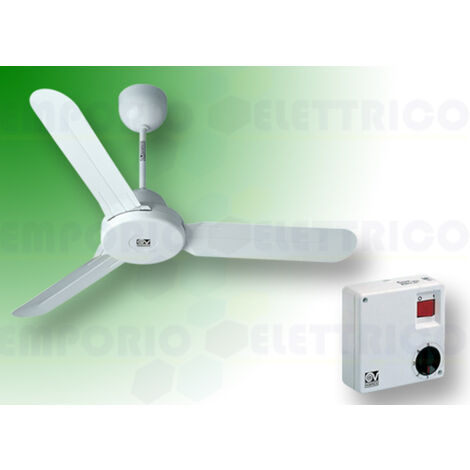 "vortice white ceiling fan kit nordik design is 120/48"" 61260 ev61260a"
