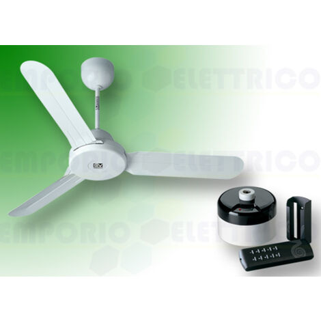 "vortice white ceiling fan kit nordik design is 140/56"" 61360 ev61360b"