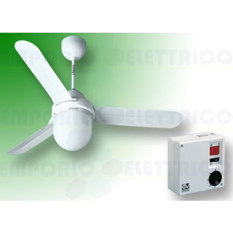 vortice white ceiling fan kit nordik design is/l 120/48 61101 ev61101a
