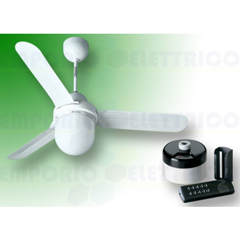 vortice white ceiling fan kit nordik design is/l 90/36 61001 ev61001b
