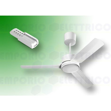 "vortice white ceiling fan kit nordik eco 140/56"" 61062 ev61062b"