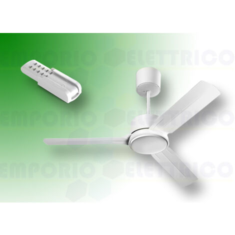"vortice white ceiling fan kit nordik eco 200/80"" 61065 ev61065b"