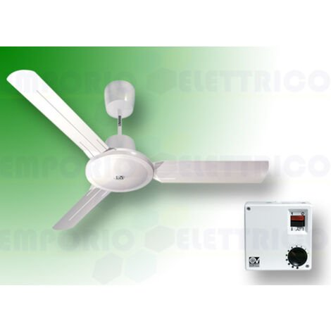 "vortice white ceiling fan kit nordik evolution r 90/36"" 61750 ev61750a"