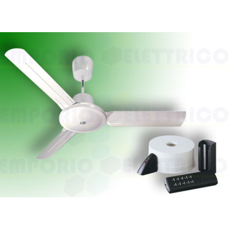 "vortice white ceiling fan kit nordik evolution r 90/36"" 61750 ev61750b"