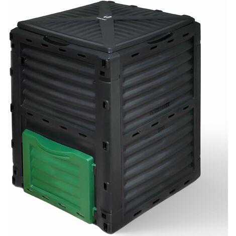 VOUNOT Compost Bin Garden, Plastic Composters Outdoor, Black, 300L