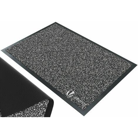 VOUNOT Dirt Trapper Front Door Mat for Indoor Outdoor, Grey-Black, 60x90cm
