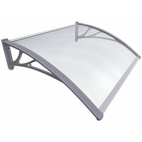 VOUNOT Front Door Canopy Outdoor Awning, Rain Shelter, Grey, 200 x 80 cm
