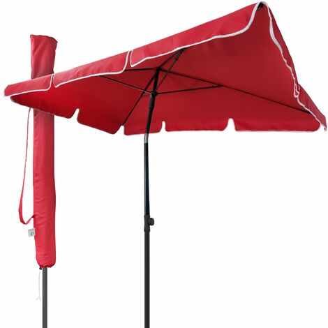 VOUNOT Garden Parasol, Tilt Balcony Umbrella with Cover, 2 x 1.25m