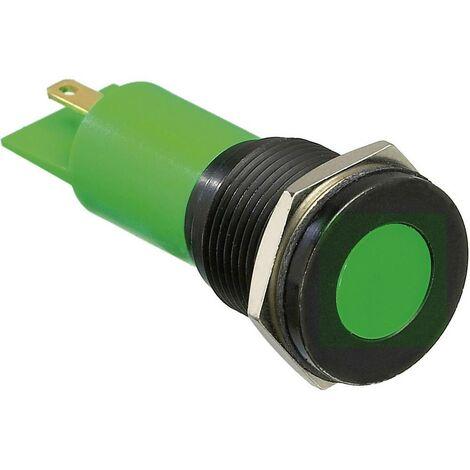 Voyant de signalisation LED APEM Q16F1BXXG24E vert 24 V/DC 20 mA 1 pc(s)