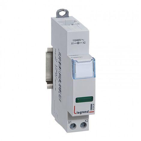 Voyant de signalisation LED - vert - 1 module